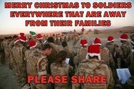 soldiers on Christmas