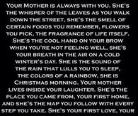 your mother is always with you