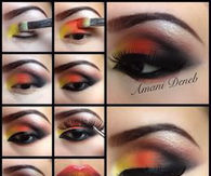 orage and Yellow Makeup