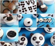 How to make panda topping cupcakes