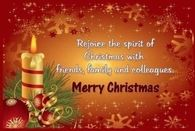 Rejoice the spirit of Christmas with friends, family and colleagues
