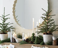 Natural Christmas Decorations for Mantle
