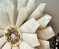 Christmas Wreath Made From Book Pages