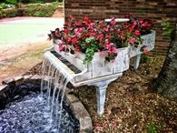 Garden Piano Fountain