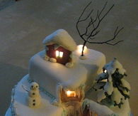 Christmas Cake with Lights