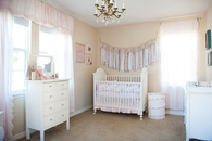 Cute light pink girl nursery