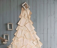 Alternative Christmas Tree from Book Pages