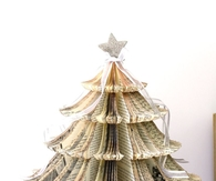 Vintage Book Christmas Tree