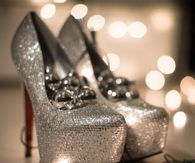 Silver Glitter Holiday Pumps
