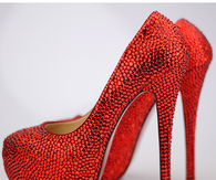 Glitter Red Stiletto Pumps