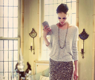 Sequin Skirt & Sweater Party Outfit