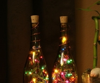 Christmas home decor with Bottles
