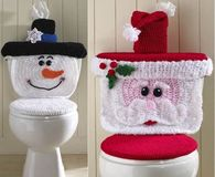 How to make a christmas toilet cover