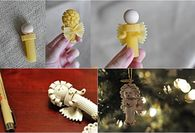 How to make angel pasta ornaments