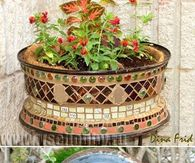 How to make a mosaic plant pot