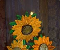 How to make quilted sunflowers