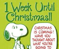 1 week until Christmas