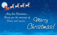 May this Christmas bring you the message of peace and hope