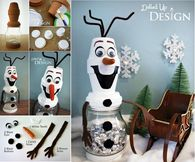 How to make a olaf jar