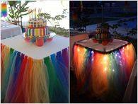 How to make a fairy light tutu party table