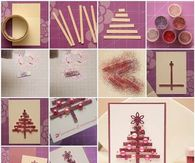How to make a christmas tree card