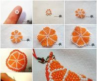 How to make an orange slice key chain