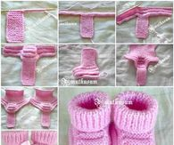 How to make knitted baby booties