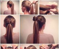 How to make a bow ponytail