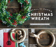 DIY Metallic Christmas Wreath