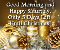 Happy Saturday Christmas Quote