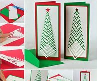 How to make chevron christmas cards
