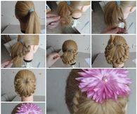 How to make a ponytail braid