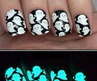 Glow in the dark ghost nails