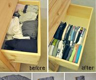 How to fold and store your tshirts