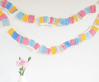 Paper plate garland