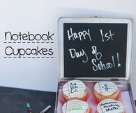 How to make notebook cupcakes