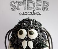 How to make Spider cupcakes