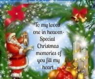 to my loved ones in Heaven