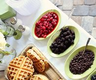 Christmas Morning Breakfast Waffle Bar