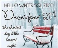 Hello Winter Solace December 21st
