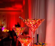 Candy Filled Martini Glasses