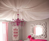 fabric Ceiling Girls Room