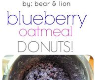 Blueberry Oatmeal Donuts