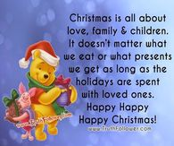 Christmas is all about love and family