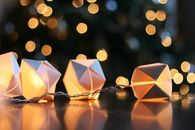 How to make paper cube string lights