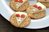 How to make cheese mouse crackers