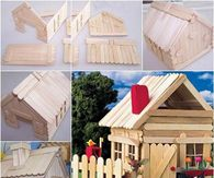 Create a popsicle stick house