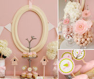 Ideas for a pink bird baby shower