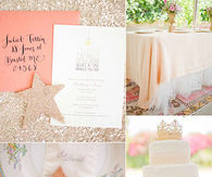 Sparkly glamour baby shower