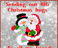 sending out Christmas hugs